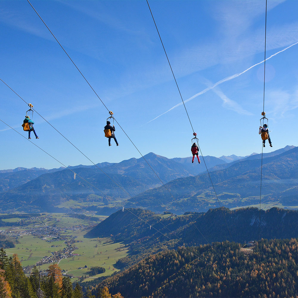 Zipline Stoderzinken - Ausflugsziel in der Steiermark