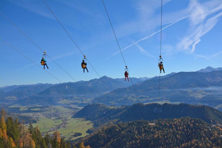 Zipline - Sommerurlaub in der Region Schladming-Dachstein